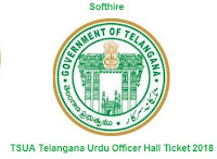 TSUA Telangana Urdu Officer Hall Ticket