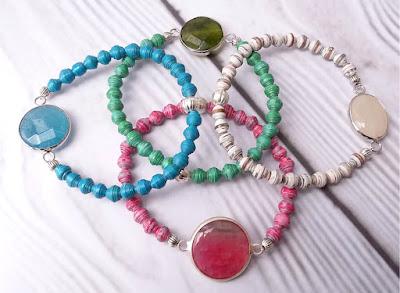 Paperbeads bracelet