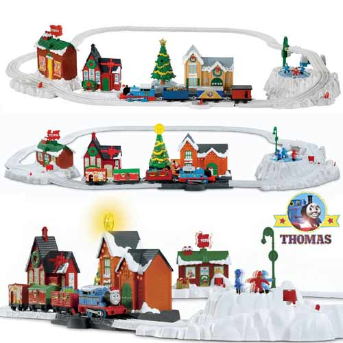 Thomas The Train Christmas Set.Thomas The Train Christmas Delivery Trackmaster Toy Railway