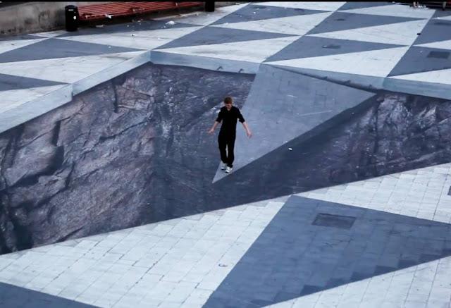 desenhos 3d tridimensionais arte de rua carlos romero ilusão de otica