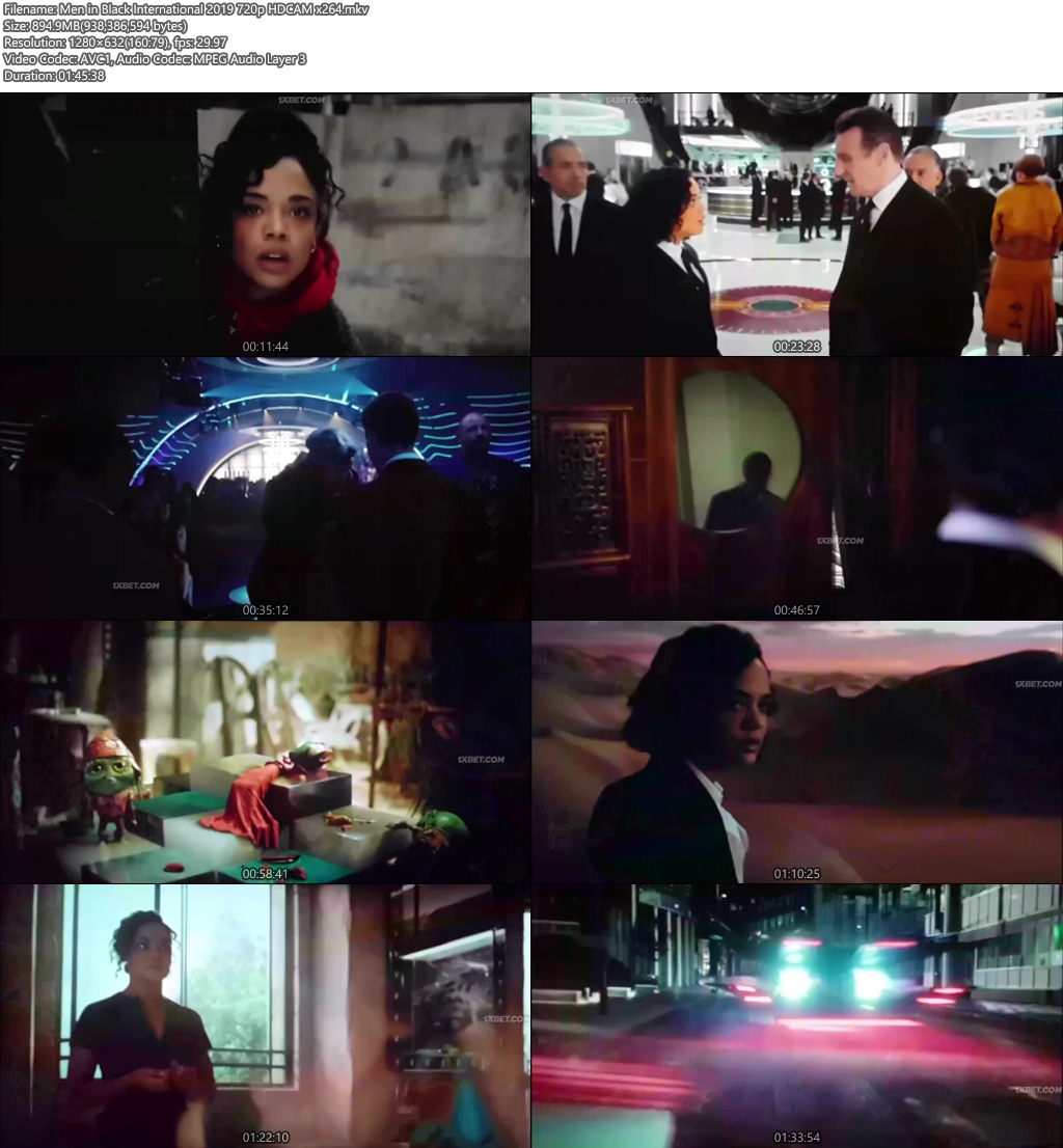 Men in Black International 2019 720p HDCAM x264 | 480p 300MB | 100MB HEVC Screenshot