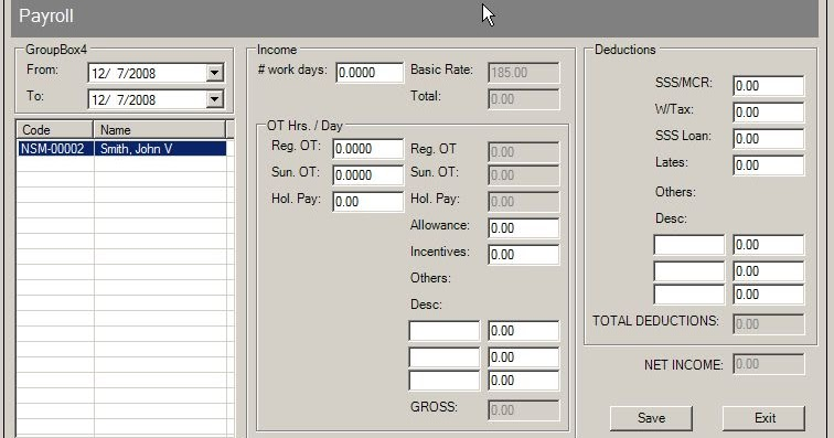 employee payroll system thesis