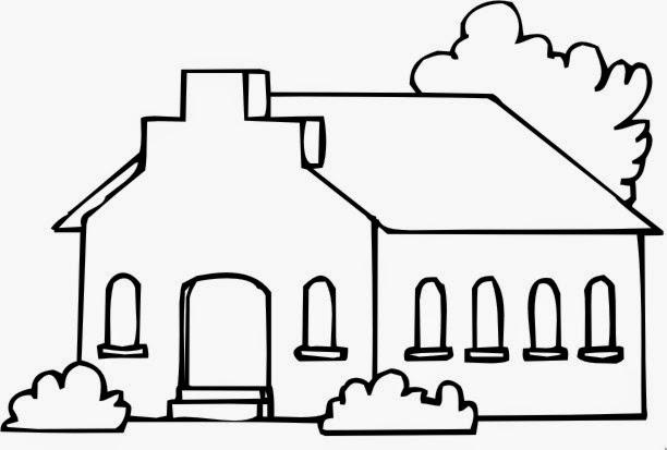 Desenhos para Pintar: Desenho de Igreja para Colorir