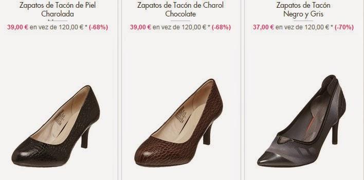 Ejemplos de zapatos de tacón de piel de Rockport