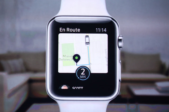 Experience Uber app on Apple watch