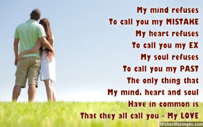 Love Quotes about husband:  my mind refuses to call you my mistake my heart refuses to call