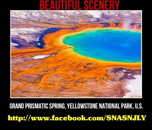 Grand Prismattic Spring, Yellowstone, National, Park, USA, Beautiful scenery