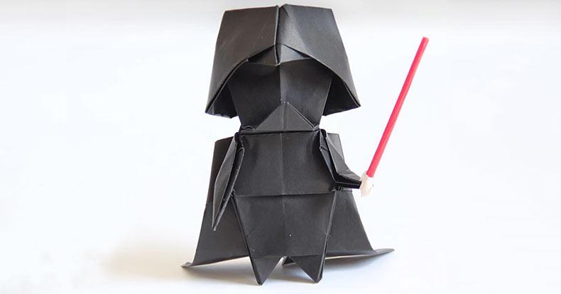 Un tutorial paso a paso para hacer tu Origami de Darth Vader
