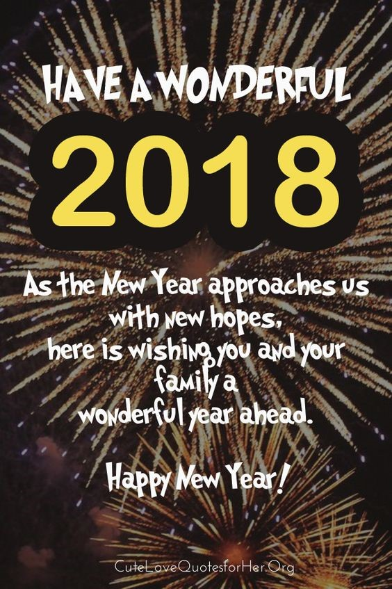new year 2018 quotes for whatsapp best happy new year 2018 wish images