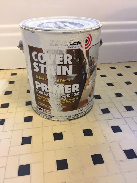 Zinsser oil based primer to cover the floor