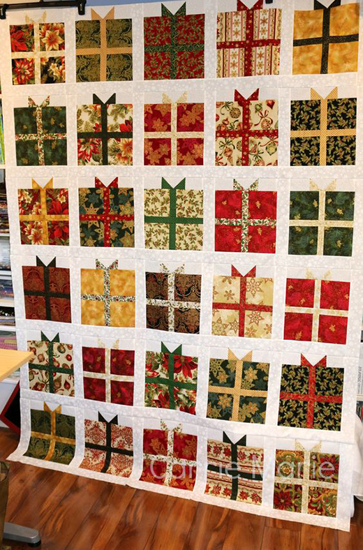 The Present Quilt made by Brenda Alward, The Free Tutorial designed by Jenny of Missouri Quilt Co