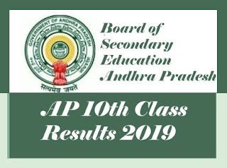 AP SSC 2019 Results, AP 10th Class 2019 Results, BSEAP 10th Results 2019