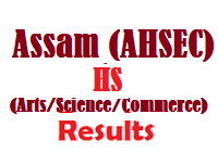 AHSEC Assam Board HS Arts Science Commerce Results