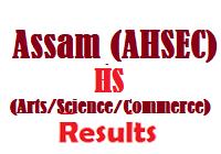 AHSEC Assam Board HS Arts Science Commerce Results
