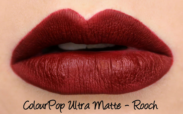 ColourPop Ultra Matte Lip - Rooch Swatches & Review