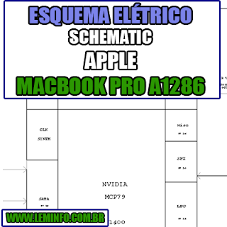 Esquema Elétrico Notebook Apple Macbook Pro A1286 MLB - 820-2330 - Apple M98  Laptop Manual de Serviço  Service Manual schematic Diagram Notebook Apple Macbook Pro A1286 MLB - 820-2330 - Apple M98  Laptop   Esquematico Notebook Placa Mãe Apple Macbook Pro A1286 MLB - 820-2330 - Apple M98 Laptop