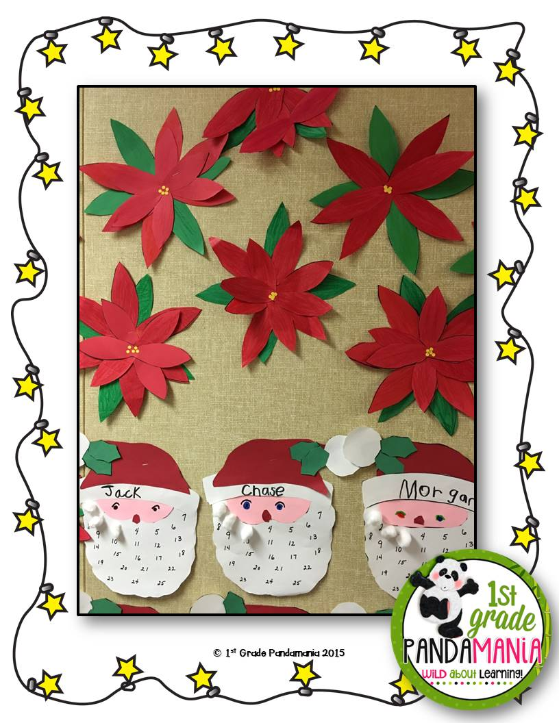 1st Grade Pandamania: Poinsettia Christmas Craft