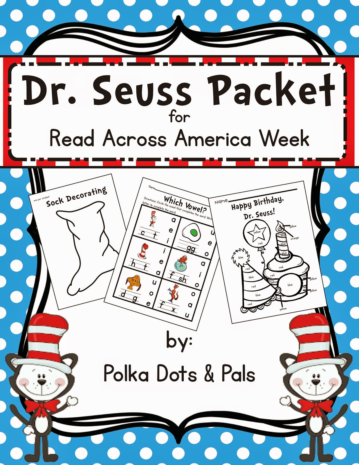 Polka Dots And Pals Dr Seuss Packet Just In Time For Read Across America Week