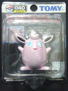 Wigglytuff Pokemon figure Tomy Monster Collection black package series
