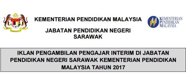 Jawatan Kosong Guru Pendidikan Islam (Interim) di Jabatan Pendidikan Negeri Sarawak