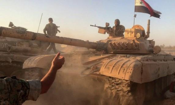 """نفذت وحدات من الجيش العربي السوري بالتعاون مع القوات الرديفة ضربات مركزة على الجيب المتبقي لإرهابيي تنظيم """"داعش"""" في تلول الصفا بعمق بادية السويداء الشرقية."""