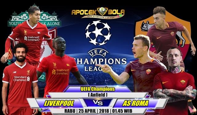 Prediksi Liverpool vs AS Roma 25 April 2018