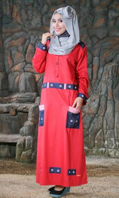 Model Baju Gamis Casual Modern Terbaru