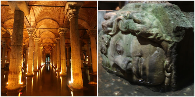 Basilica Cistern was built to provide water for the city of Istanbul during the reign of Emperor Justinian I in the 6th century CE in Sultanahmet, Istanbul, Turkey