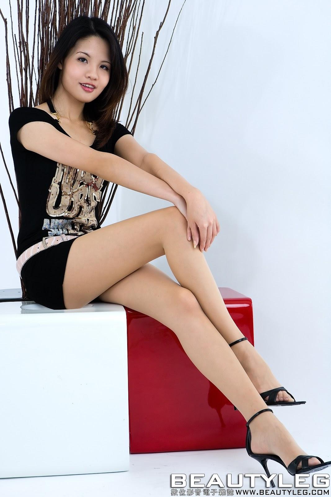 Sugar Beautyleg Japanese Sexy Girl Sexy Black Dress -7615