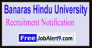 BHU Banaras Hindu University Recruitment Notification 2017 Last Date 21-01-2017