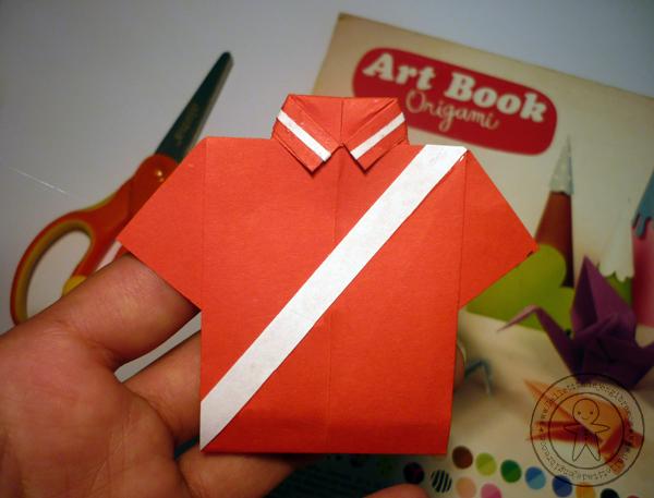 Manualidad fiestas patrias - Camisa origami ~ Galletita de Jengibre