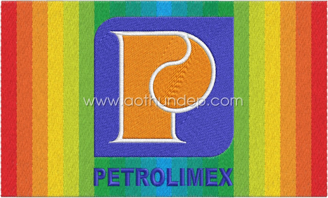 Petrolimex computerized embroidery logo