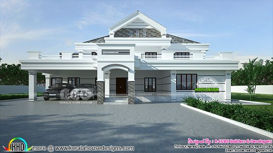 4932 sq-ft modern style luxury house