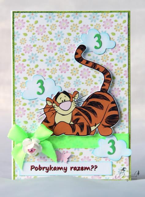 Kubuś Puchatek, Winnie the pooh, zaproszenia, urodziny, dla dziewczynki, dla dziecka, tygrysek, bohaterowie Kubusia Puchatka, pobrykać, Magiczna kartka inspiracje