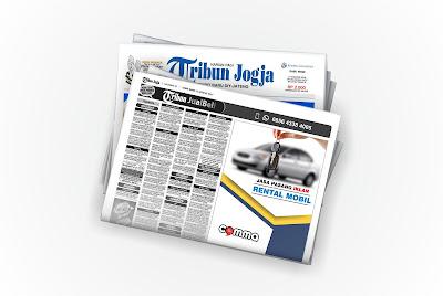 pasang iklan Rental Mobil di koran Tribun Jogja