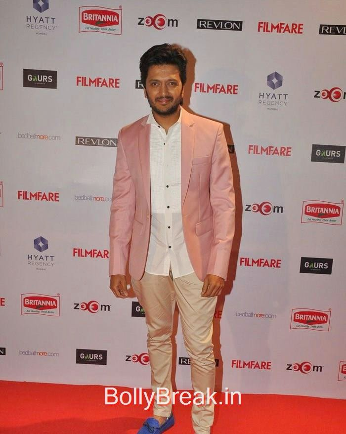 Riteish Deshmukh, 60th Britannia Filmfare Awards pre-awards Party 2015 Red Carpet Pics