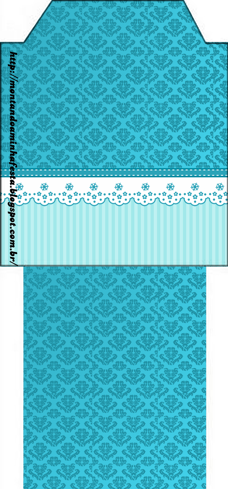 Ligth Blue Damasks Free Printable Wedding Invitations And