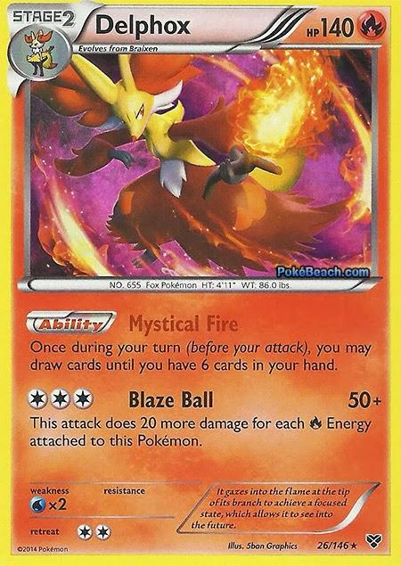 Delphox -- Pokemon X and Y Card Review   Primetime Pokemon ...