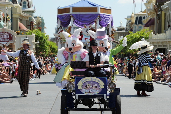Mr. & Mrs Easter Bunny Walt Disney World Parade
