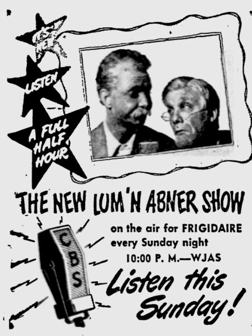 OTR Advertisements: Lum and Abner (Frigidaire)