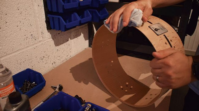Чистка обечайки барабана