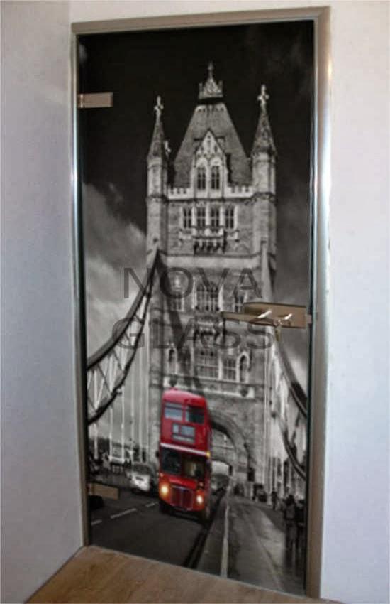 Γυάλινη πόρτα με ψηφιακή εκτύπωση