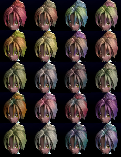 Iray Candy Manga Hair Textures for Star 2