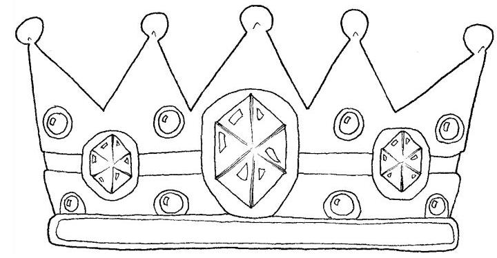 Coronas infantiles para colorear Imagui Da de reyes t