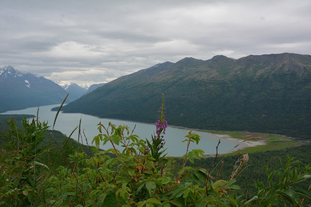 Eklutna Lake view from trail