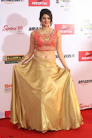 Harshika Ponnacha in orange blouuse brown skirt at Mirchi Music Awards South 2017 ~  Exclusive Celebrities Galleries 092.JPG