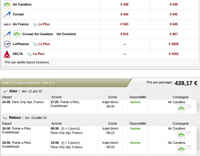 Voyage Guadeloupe 439 euros avec Air Caraibes