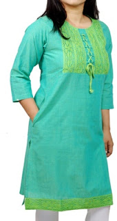 http://www.indianconceptsonline.com/product/125704/sea-green-woven-drawstring-lace-detailing-corporate-kurta/