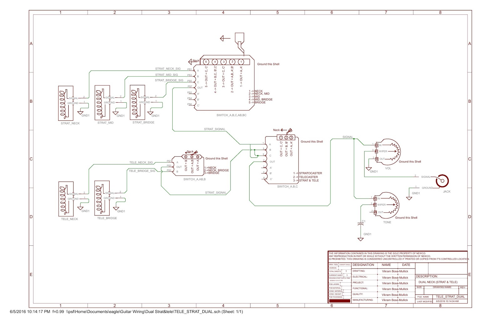 Gibson Guitar Wiring Diagrams Ac Diagram Honda Civic Double Neck Free