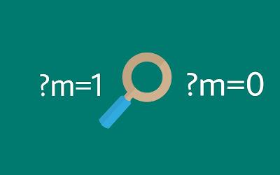 menghilangkan m=1 url diakses di blog